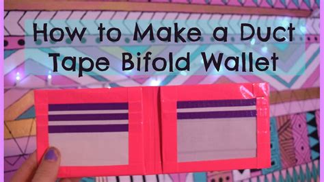 how to make a duct wallet how to make a duct tape bifold wallet youtube