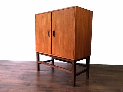 retro teak records cabinet cupboard storage mid century