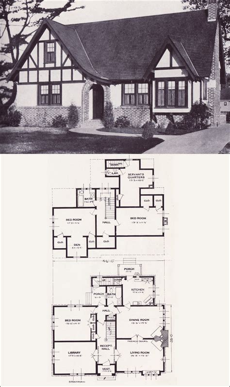 tudor floor plans this is so attractive has a library