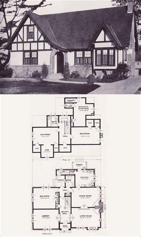 stratford english revival tudor style  standard homes company vintage house
