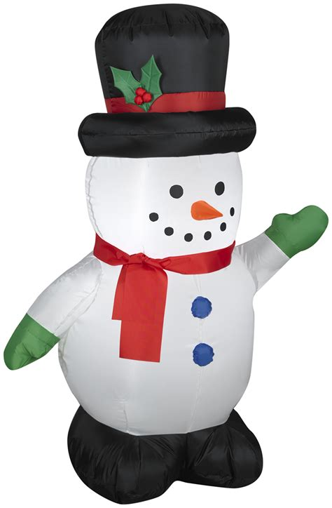 rite aid outdoor decorations gemmy airblown inflatables snowman w top