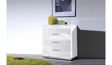 Commode Laquee Blanche Design by Commode De Chambre Design Blanc Laqu 233 4 Tiroirs Novomeuble