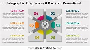 Infographic Diagram With 6 Parts For Powerpoint
