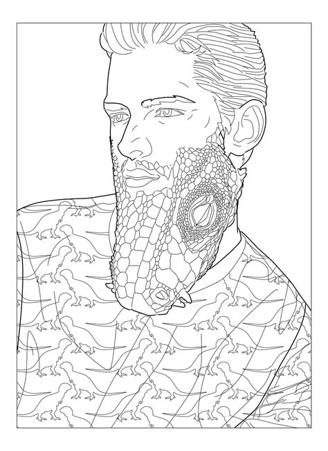 beard coloring beard coloring pages