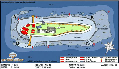 Maldives Resort Map (Enlarged)