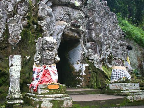 visit gua gajah temple  batur trekking bali jungle