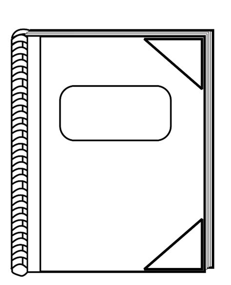 Thin Book Template by Cover Clipart Clipart Panda Free Clipart Images