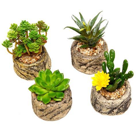 small flowering plants for pots 1 pcs small potted bonsai fake plants with pot set flower vase stone cement pots home decoration