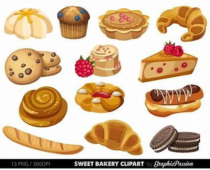 Bakery Clipart Sweet Clip Dessert Breakfast Cake