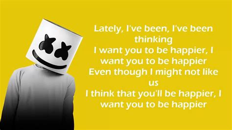 marshmello ft bastille happier lyrics video youtube