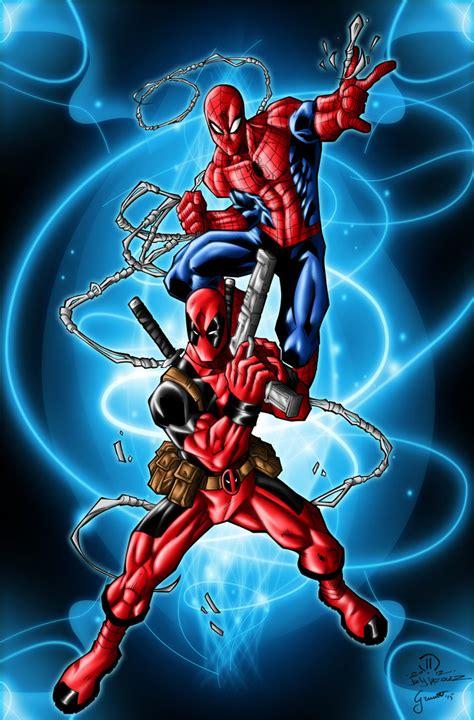 Spiderman And Deadpool By Grivitt On Deviantart