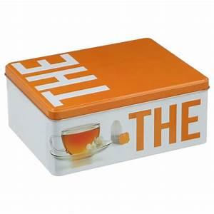 Boite à Tisane : bo te th tisanes relief orange ~ Teatrodelosmanantiales.com Idées de Décoration