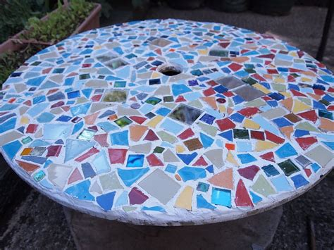 Diy Project 3; Cable Spoon> Mosaic Garden Table