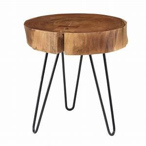 Table D Appoint Haute : table d 39 appoint acacia haute decorelie de l 39 art la d co ~ Nature-et-papiers.com Idées de Décoration