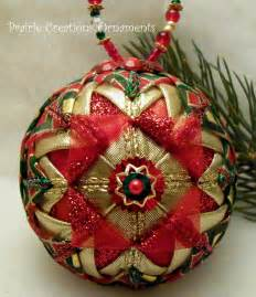 Quilted Christmas Ball Ornament