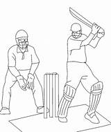Cricket Coloring Drawing Match4 Match Player Sports Getdrawings Coloringpagebook Advertisement sketch template