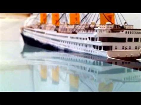 titanic sinking animation pitch black r m s titanic model sinking how to make do everything