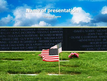american flag  memorial day powerpoint template