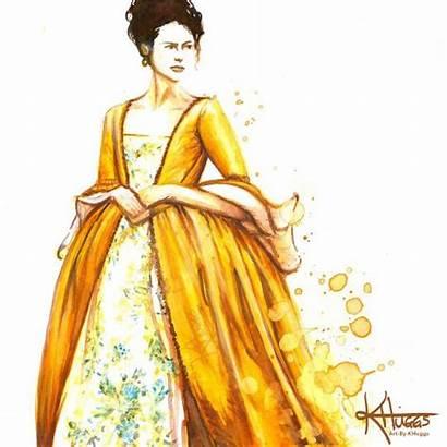 Droughtlander Outlander Challenge Week Yellow Watercolor Fan