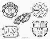 Football Coloring Logos Printable Cool2bkids sketch template
