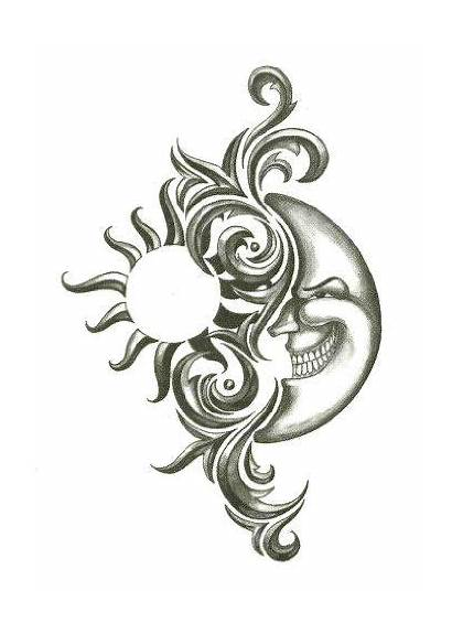 Sun Tribal Tattoos Tattoo Moon Temporary Idea