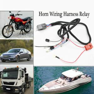 car 12v horn wiring harness relay kit fuse for truck motorcycle vehicle ebay
