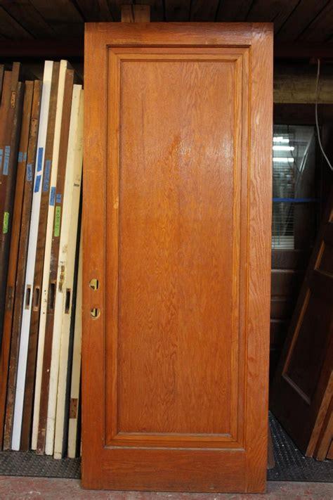 oak single panel door  crescent moon antiques  salvage