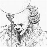 Pennywise Clown Drawing Dancing Getdrawings sketch template