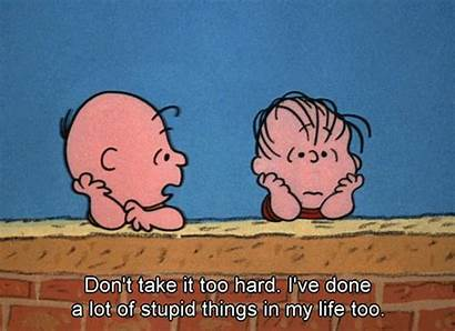 Charlie Brown Gifs Quotes Linus Stupid Cheer