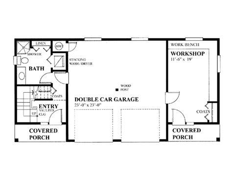 Garage Floor Plans Workshop Double  House Plans #45296