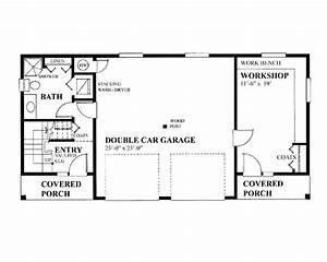 garage floor plans workshop double house plans 45296 With porte garage double dimension