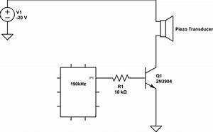 transistors driver for piezo atomizer transducer With lcr bridge circuit