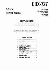 Sony Cdx-727 Service Manual