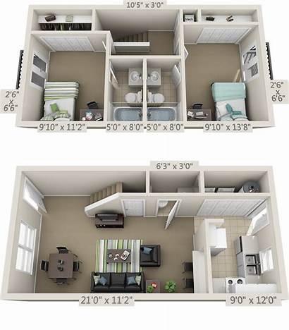 Layout Apartment College Studio Floor Plans Furniture