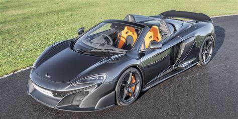 McLaren 675LT Spider for sale Storm Grey Carbon Louvres