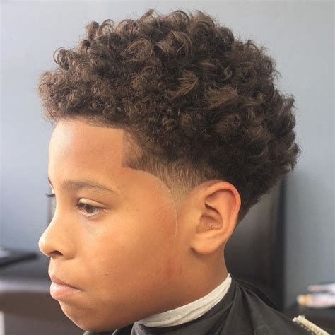 Curly Hairstyles For Boys by Haircuts Curly Hair Fade Haircut