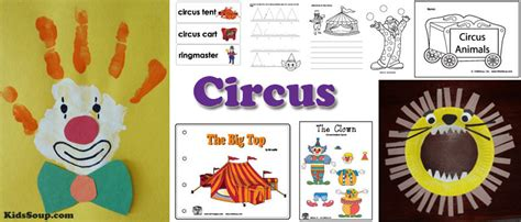 in my town kidssoup 961 | circus activities crafts preschool