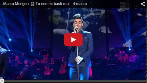 Vasco A Me Basti Tu L Per La Musica Marco Mengoni Tu Non Mi Basti Mai