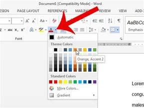 Word 2013 Change Font Color