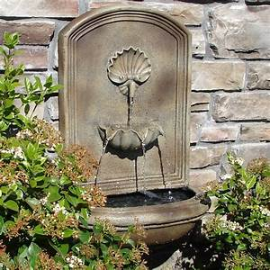 Weathered Bronze Napoli Outdoor Wall Fountain