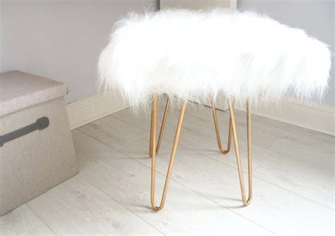 Fluffy Stool Chair Fluffy Vanity Chair On The Hunt White