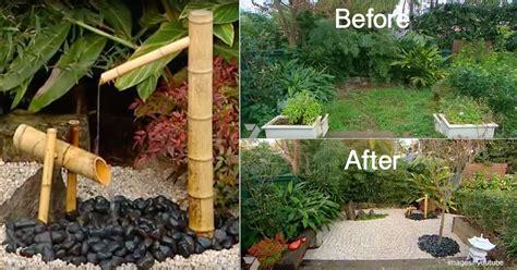 small japanese garden transforms this backyard