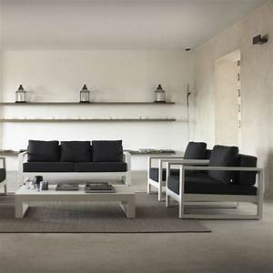 Salon De Jardin Polypropylène : fauteuil design en m tal blanc brin d 39 ouest ~ Carolinahurricanesstore.com Idées de Décoration
