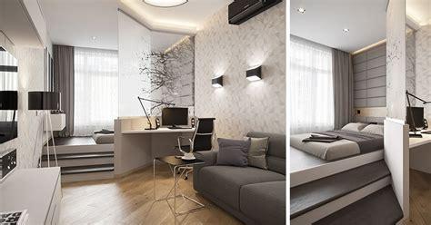 small apartment design idea separate  bedroom
