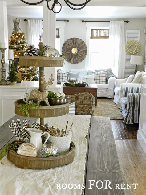 Stunning Christmas Country Home Tour  Etageren Deko