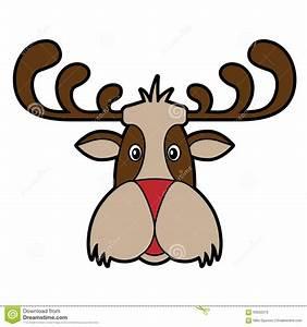 Reindeer Cartoon Head Stock Vector - Image: 63022373