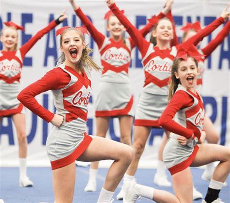 middle school cheerleaders compete  weekend sports