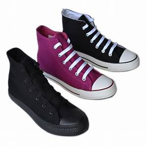 BB-Flower New Women High Top Canvas Sneakers Classic ...