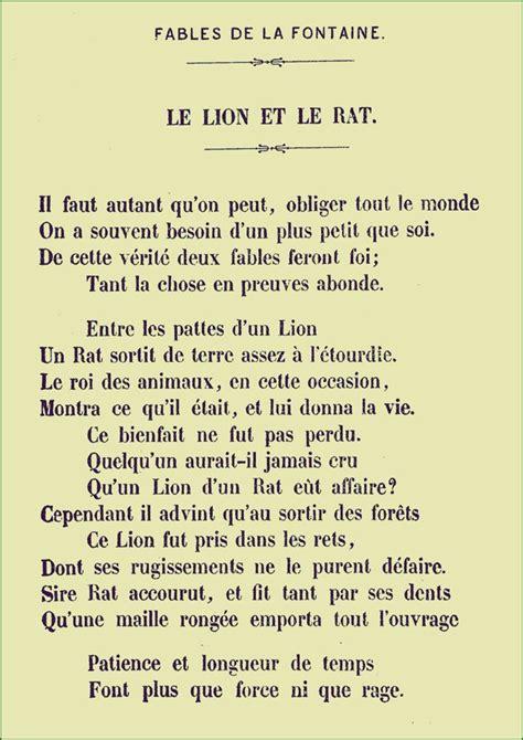 Le Dormeur Du Val Résumé by La Fontaine Le Et Le Rat Rats And