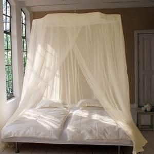 Lit Baldaquin Adulte : moustiquaires pour lits disponibles en pur coton et polyester ~ Teatrodelosmanantiales.com Idées de Décoration